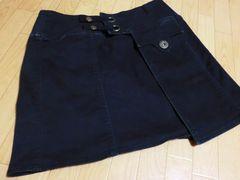 プライド/PRIDE ストレッチ製巻きデザインミニスカート黒