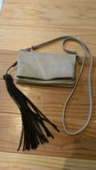 BACKLUSH/ 2wayレザークラッチバッグ/ウォレット財布