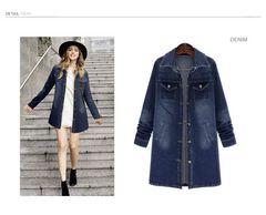 新品大きいサイズ6L21号デニムロングジャケットコート