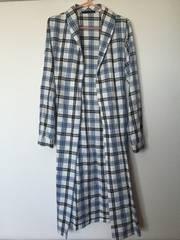 Heatherヘザーロングネルシャツジャケットコートアウターガウンチェックマキシ丈