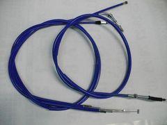 (2004C)CB250TCB400NCB400Tホーク10cmロングワイヤーセットブルー