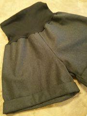 MLマタニティーショートパンツ起毛ウール調ショートパンツグレー