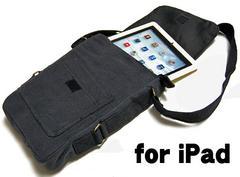 ROTHCO社製・iPad・タブレットPC用キャンバスショルダーバッグ黒