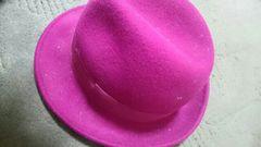 100円スタート新品未使用UNIQLOウール100ピンクハット帽子