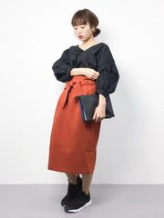 今季★新品タグ付★mysty woman★タイトスカート★オレンジ★F