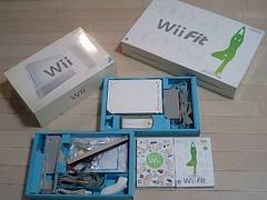 Wii・ホワイトセット・完品+Wii fitセット