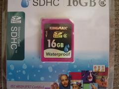 防水型SDHCカード「KINGMAX16GB」未使用品