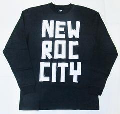 AI4)ROCAWEARプリントTシャツ長袖(R0713T04L) 黒