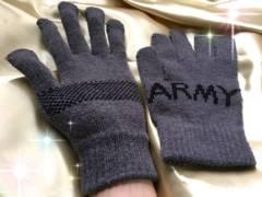 メンズ☆FREEサイズ♪ARMY☆あったかグローブ♪手袋★