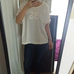未使用 タグ付 今季 ロデオクラウンズ ナンバリング  Tシャツ