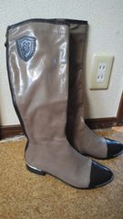 新品かっこいいロングブ-ツ長靴美品26CM