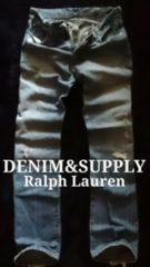 【DENIM&SUPPLY】ラルフローレン Vintage デストロイジーンズ 32/ミディアムウォッシュ