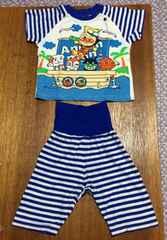 アンパンマン パジャマ 青しましま