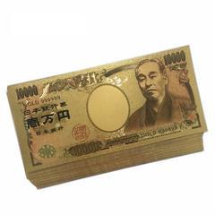 【送無】5枚!24K 純金箔1万円札ゴールド開運風水金運ゾロ目♪