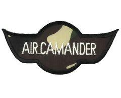 アイロンワッペン・パッチ AIRCamanderエアコマンダー迷彩部隊章