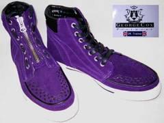 ジョージコックスハイカットスニーカー4107紫6