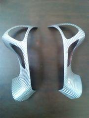 Y51フーガ ステアリングパネル シルバーカーボン