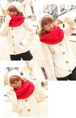 ピンクスヌード☆マフラー 防寒 レディースファッション 襟巻