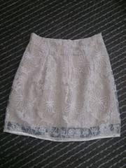 レーススカート   オフホワイト