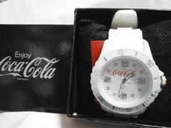 コカコーラ シリコンウォッチ 白 腕時計