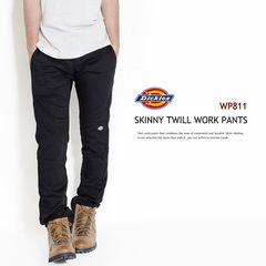 ad0146bsm■DICKIES SKINNY TWILL WORK PANT WP811 w30黒