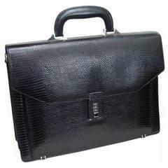 トカゲ革ビジネスバッグLD-8891ブラック
