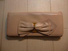 PRADA プラダ レザー リボンの二つ折り長財布