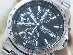 2786復活祭★SEIKOセイコー☆スポーツクロノグラフメンズ腕時計大人気ブラック