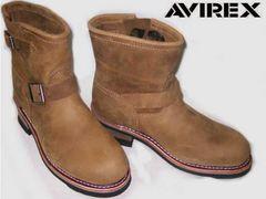 AVIREXアビレックス新品ショート エンジニア ブーツ2225茶us9.5