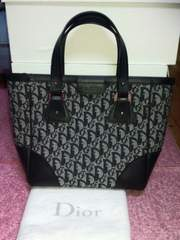 Diorトロッター柄 ジャガードBag ブラック 参考価格\120,000 超美品