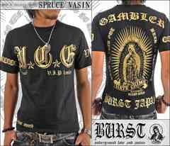 メール便送料無料【MAD BURST JAPAN】70533Tシャツ黒金L