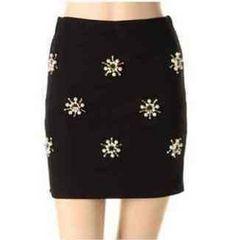 DaTuRa*タグ付き新品*デコレーションスカート*ブラック