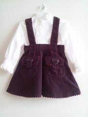 *シャーリーテンプル*ボルドーカラー可愛いスカート・秋冬用《110》