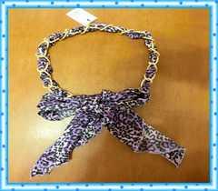 Twisty☆サテンスカーフ&チェーンベルト(紫)☆新品