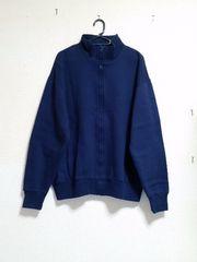 ☆紺色ハイネック☆裏起毛長袖ジップセーター☆