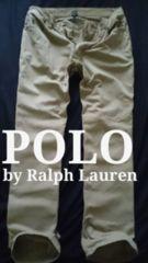 【POLO】ラルフローレン Vintage Washed ストレート ジーンズチノパンツ 32/Khaki
