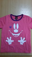 BABYDOLL★新品タグ付半袖Tシャツ120★ミッキーコラボ ピンク