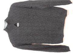 新品ビバユー\15750ドロップ型あきタートルニット黒ラメピンダイマウジー