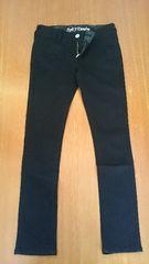 W67 新品 黒スリムジーンズ  収縮ストレッチ 形良い