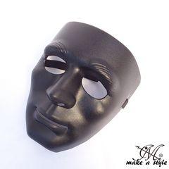 ヒップホップ ダンスマスク MASK お面 黒 ブラック B系 191