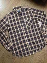 美品RAGEBLUE  チェックシャツ 日本製 レイジブルー