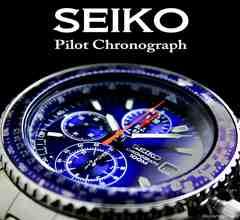 海外限定生産モデル!【SEIKO】 セイコー1/20秒高速パイロットBL