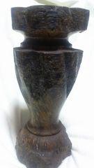 欅木彫り花瓶