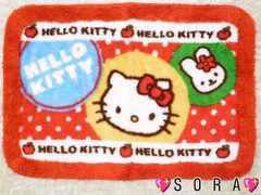 【キティ】可愛いバスマット/玄関マット�@