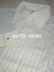 □ユナイテッドアローズ ストライプ  ドレスシャツ/メンズ・Sサイズ☆新品☆ポールスミス