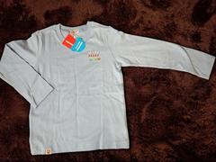 新品120ミキハウス ロンTシャツ水色