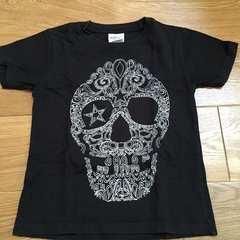 かっこいい!スカル柄Tシャツ 黒120
