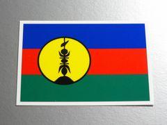 1■ニューカレドニア国旗ステッカー1枚 シール ☆即買!■