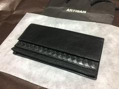 新品【ARTISAN】アルチザン長財布イントレチャート牛革5万円