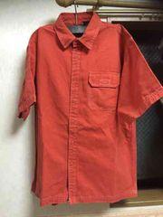 新品☆XXLサイズGAPブランド ボタン半袖シャツ オレンジカラー